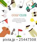 GOLF ゴルフ クラブのイラスト 25447308
