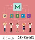 Social network and teamwork banner 25450463