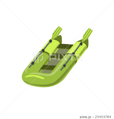 Green Inflatable Raft Type Of Boat Icon 25453764
