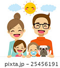 ファミリー 家庭 家族のイラスト 25456191