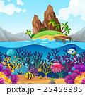 熱帯 海 マリンのイラスト 25458985