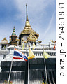 タイの寺とタイ国旗 25461831