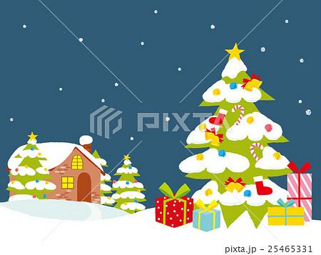 クリスマスツリー イラスト 25465331
