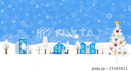 クリスマス 雪 風景 背景のイラスト素材 25465621 Pixta