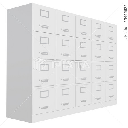 Office cabinet isolated over white backgroundのイラスト素材 [25466622] - PIXTA