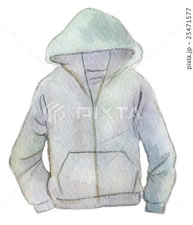 水彩イラスト ファッション パーカーのイラスト素材 25471577 Pixta