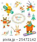 冬 動物 セットのイラスト 25472142
