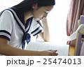 女子高生 勉強イメージ 25474013