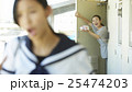 親子 朝イメージ 25474203