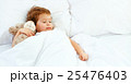 child little girl sleeps in the bed with teddy bear 25476403