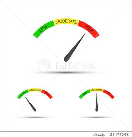 Set of simple vector tachometer with descriptionsのイラスト素材 [25477248] - PIXTA