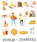 Pizza Making Decorative Icons Set 25480562