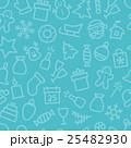 Christmas icon set seamless pattern 25482930
