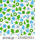 Christmas icon set seamless pattern 25482931