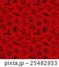 Christmas icon set seamless pattern 25482933