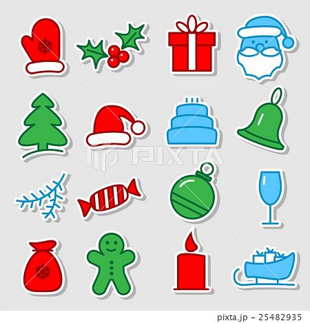Christmas icon set 25482935