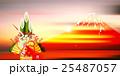 酉 富士山 年賀状 背景  25487057