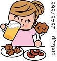 女性の肥満 ダイエット 食べ過ぎ 25487666