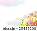 春の花の背景素材 和柄 25489208