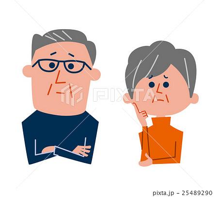 悩む老夫婦 25489290