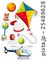 Sticker set with many toys 25489628