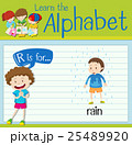Flashcard letter R is for rain 25489920