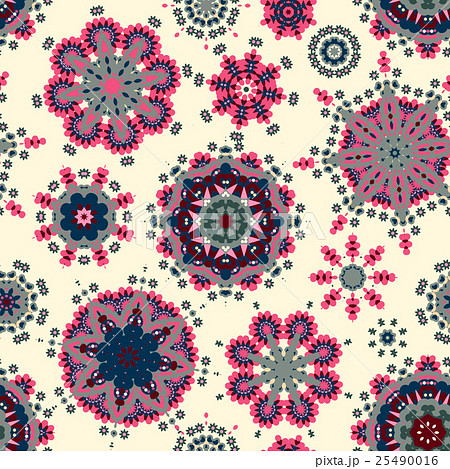 Ethnic pattern in pastel color with stylizedのイラスト素材 [25490016] - PIXTA