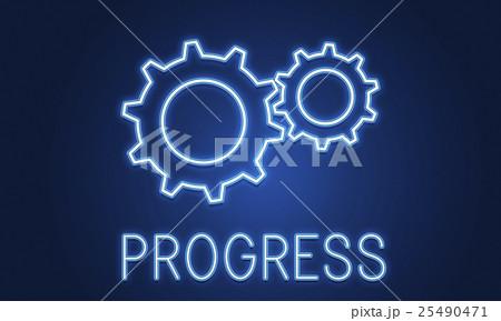 Business Achievement Progress Develpoment Cogwheel Conceptのイラスト素材 [25490471] - PIXTA