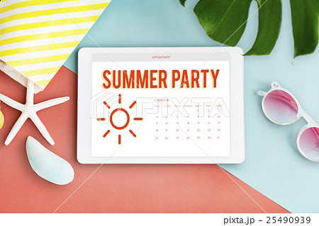 Summer Calendar Schedule Fun Happiness Conceptの写真素材 [25490939] - PIXTA