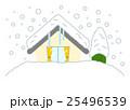 大雪と住宅と木 25496539
