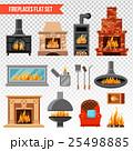暖炉 いろり 囲炉裏のイラスト 25498885