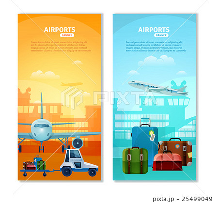 Airport Vertical Bannersのイラスト素材 [25499049] - PIXTA