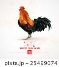 鳥 鶏 おんどりのイラスト 25499074