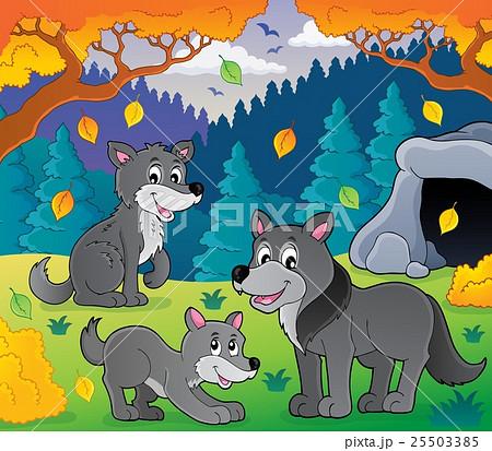 Wolves theme image 3のイラスト素材 [25503385] - PIXTA
