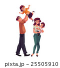 Father, mother, daughter and son, happy family 25505910