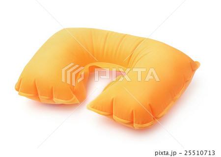 Orange inflatable neck pillow 25510713