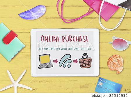 Online Shopping Web Shop E-shopping Concept 25512952