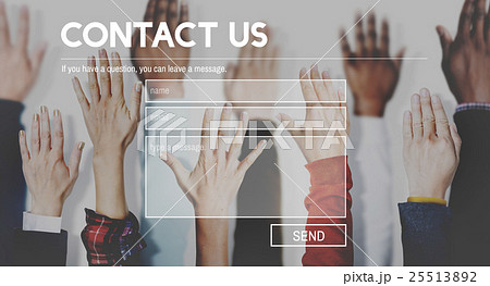 Contact Us Support Assiatance Correspondence Conceptの写真素材 [25513892] - PIXTA