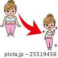 女性 ダイエット ベクターのイラスト 25519456