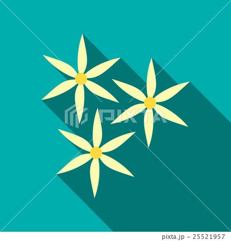 White flowers icon, flat styleのイラスト素材 [25521957] - PIXTA