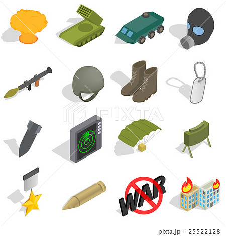 War Icons set, isometric 3d styleのイラスト素材 [25522128] - PIXTA