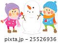 雪だるまを作る子ども 25526936