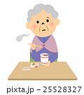 人物 高齢者 カップ麺のイラスト 25528327