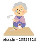人物 高齢者 カップ麺のイラスト 25528328