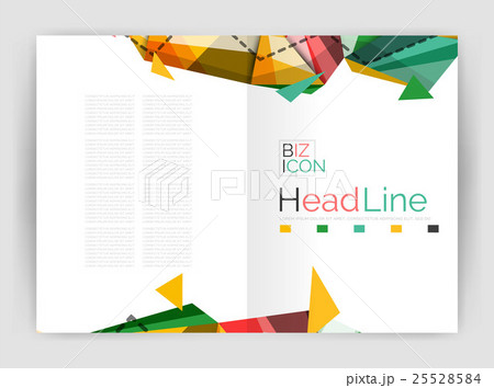 Abstract background annual report templateのイラスト素材 [25528584] - PIXTA