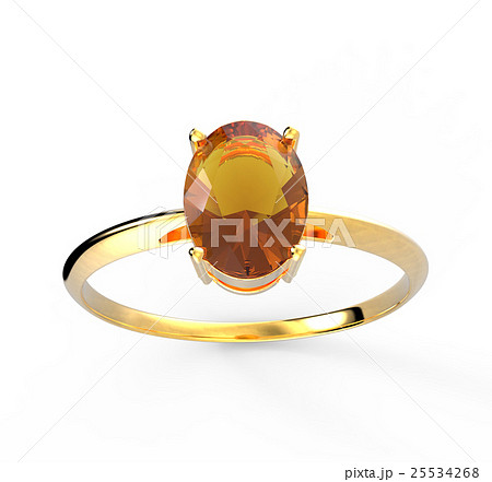 Wedding ring wiith diamond. 3D illustration 25534268