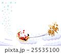 クリスマス ベクター サンタクロースのイラスト 25535100