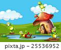 かえる カエル 蛙のイラスト 25536952