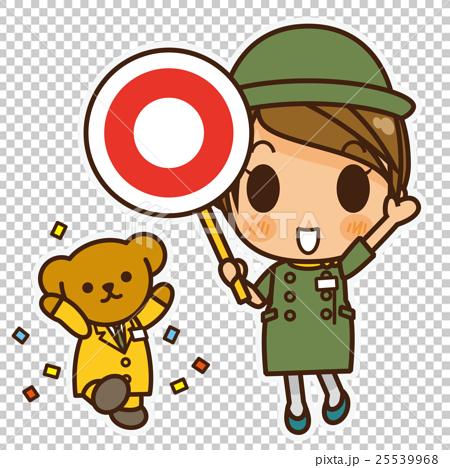 オンナノコ 案内係(緑) マル 25539968