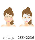 フェイスマスク、バリエーション、エステ、スキンケア、シートマスク、パック、若い、女性、可愛い 25542236
